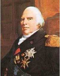 Ľudovít XVIII. nosil vyznamenanie rádu sv. Ducha a sv. Lazára