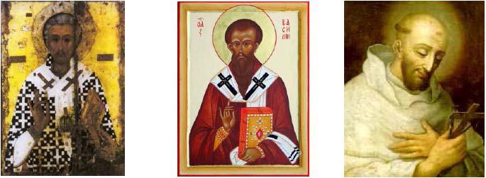 Sv. Lazár Sv. Bazileus Sv. Bernard